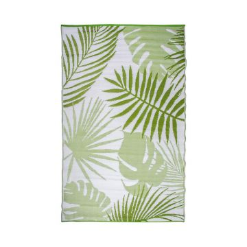 Covor de exterior Jungle Leaves 151.5x241 cm - Esschert Design, Verde