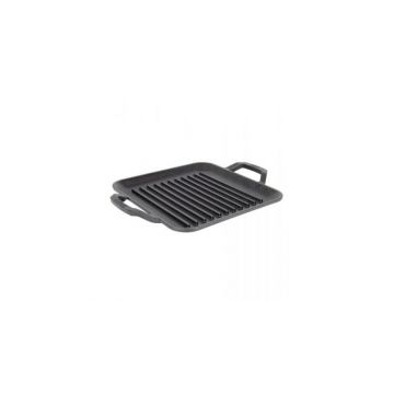 Tava grill patrata cu doua manere Chef Collection Lodge 28 cm L-C11SGP