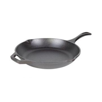 Tigaie adanca rotunda din fonta cu maner Chef Collection Lodge 26 cm L-C10SK